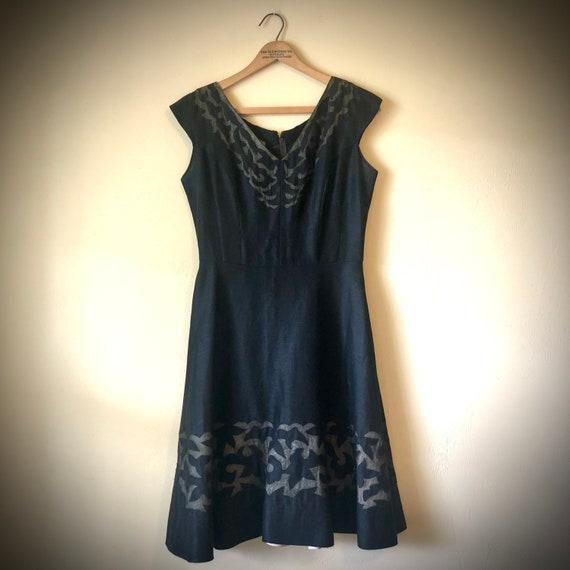 Fit and Flare 1950's Sheer Illusion Dress