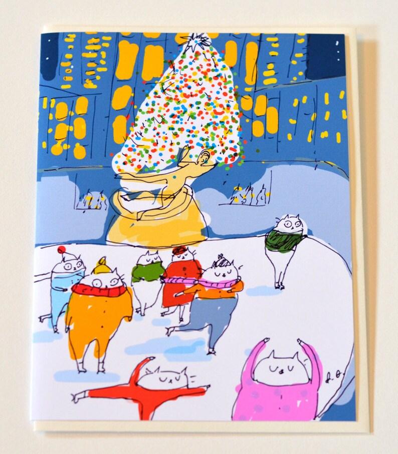 Rockefeller Center Christmas Christmas Cat Card NYC