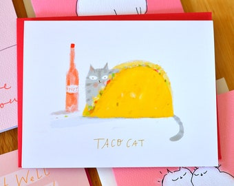 Taco Cat Card - Funny Cat Card