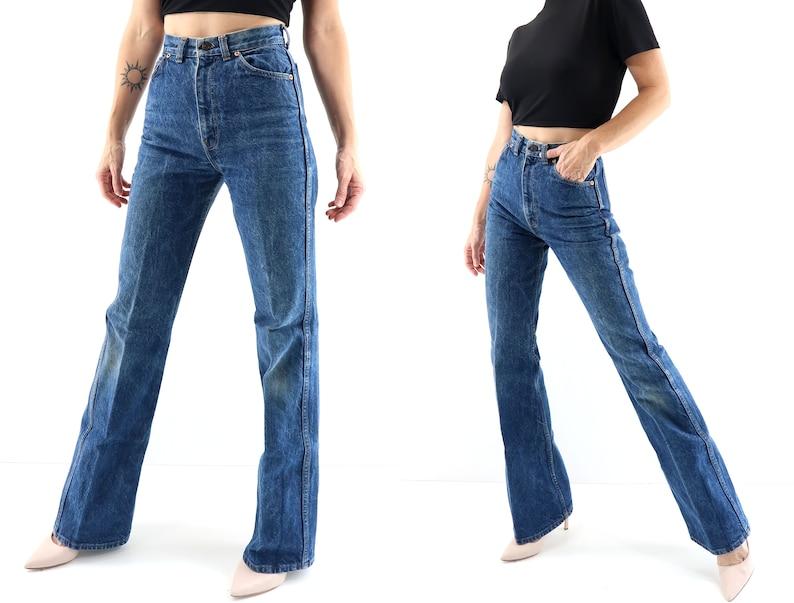 Vintage Levi Jeans  High Waist  Flare  1980's Retro image 0
