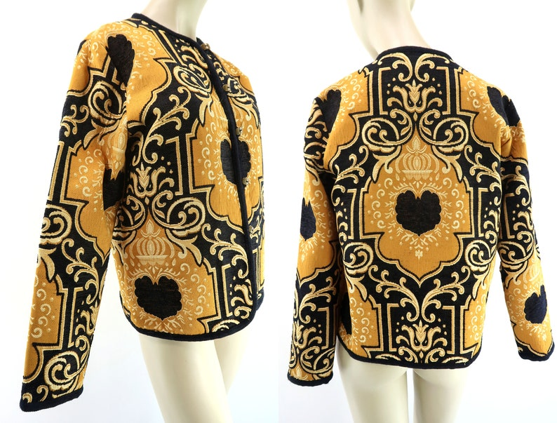 Tapestry Jacket  GRAFF  Yellow Gold and Black  Vintage image 0