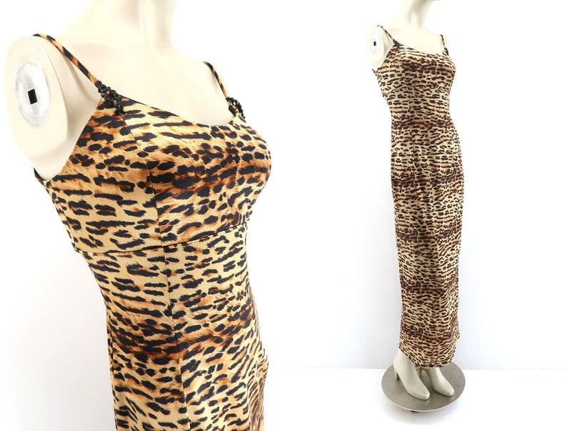 Vintage Jessica McClintock  90's Dress  Animal Print  image 0
