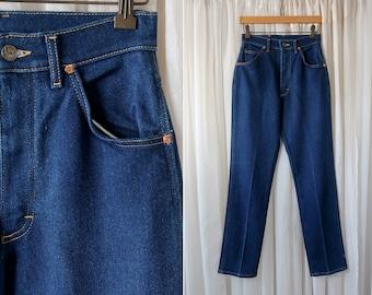 """27"""" X 31"""": LEE Brand Dark Rinse Woman's High Waist Retro Vintage Sexy Soft Denim Jeans"""