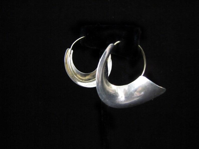 Vintage Silver Hoop Earrings image 0