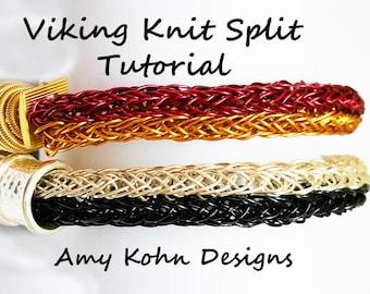 The Viking Knit Split Technique