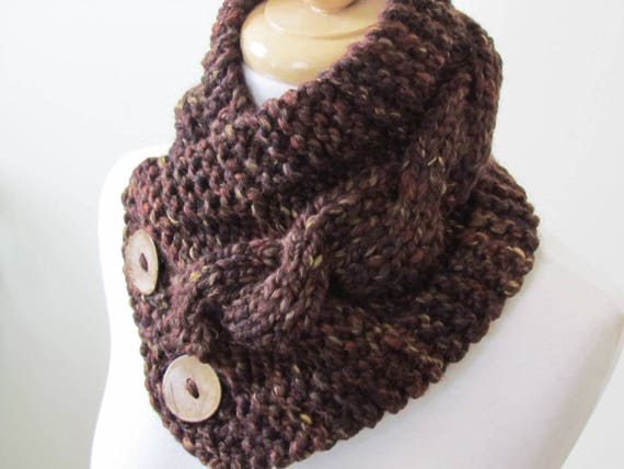 Knit Neck Warmer Cable Knit Scarf Sequoia Etsy