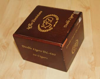 Wood Cigar Box - LaFlor Dominicana Double Ligero 34