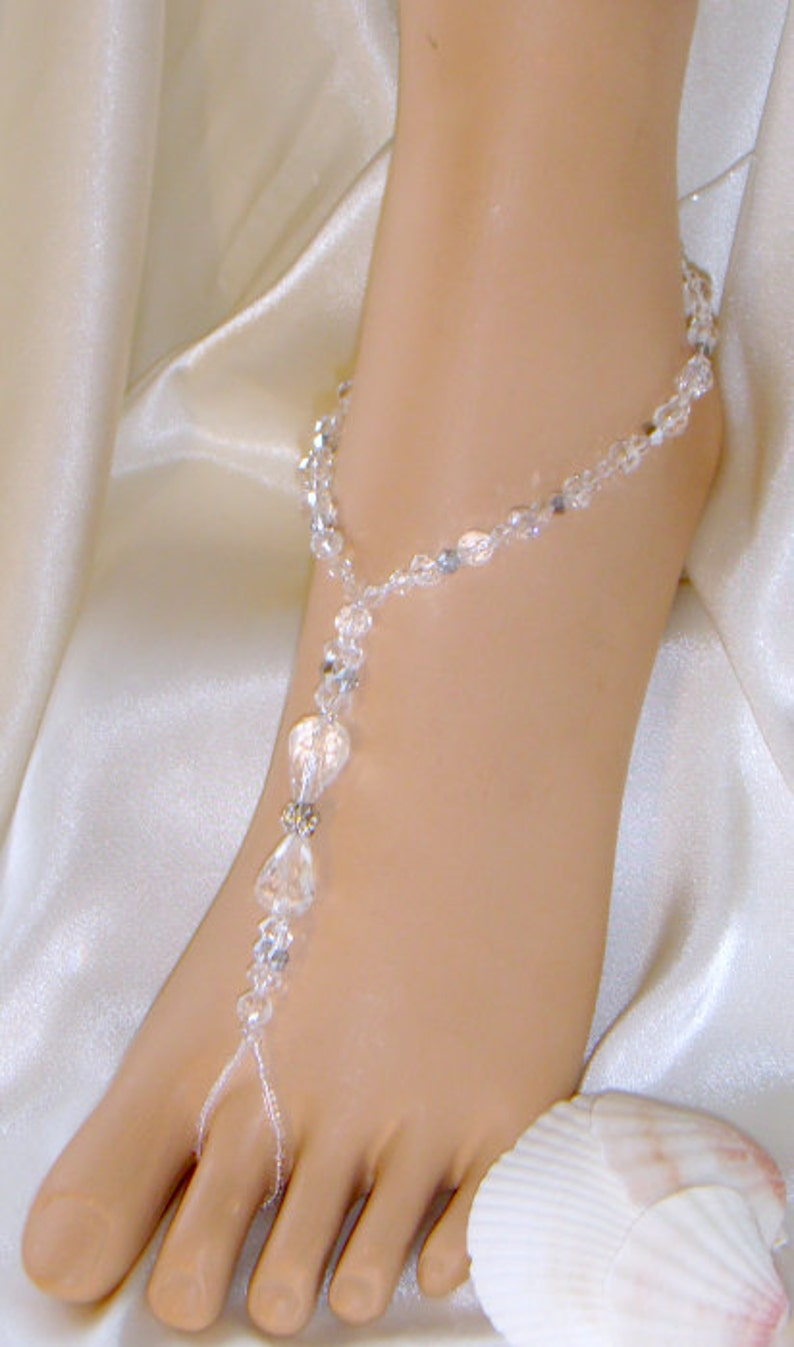 Beautiful Barefoot Sandals Beach Weddings Foot Jewelry Beach Bride Sandals Gorgeous Crystal *FREE SHIPPING* Made in all Colors /& Sizes!