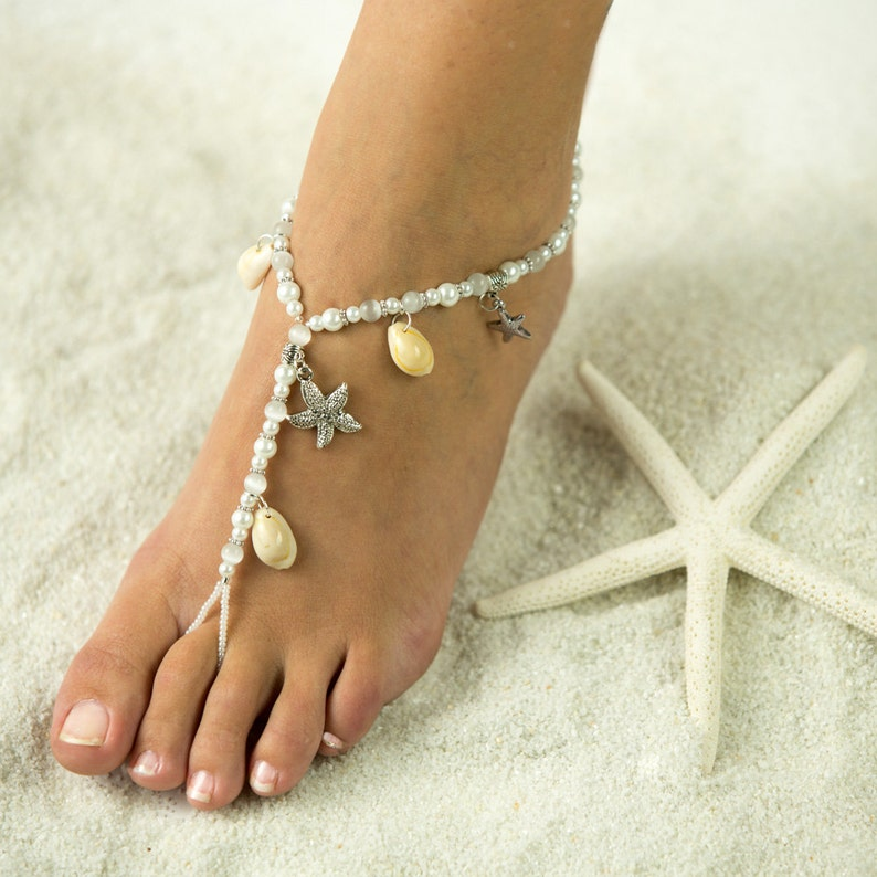 Starfish and Sea Shell Barefoot Sandals Foot Jewelry for  c8618644401f