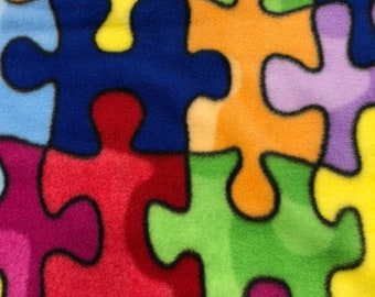 RaToob, Blue Red Yellow Green Orange Lavender Jigsaw Pieces