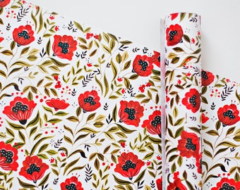 Gift Wrapping - Poppies
