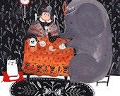 Tea with an Elephant art print