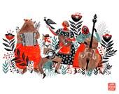 Bizarre Quartette Art Print