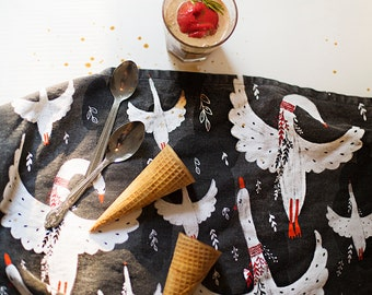 """Flying Geese Tea Towel 100% cotton, 20""""x30"""", comes in a gift packaging with a complimentary recipe card"""