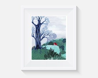 Giclee Print, Old Tree Art Print