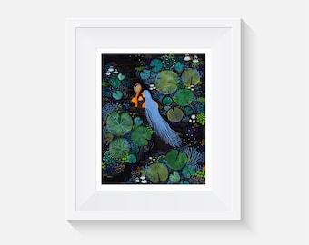 Giclee Print, Swamp Princess Art Print