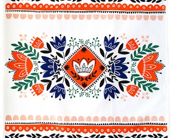 """Ethnic Tea Towel 100% cotton, 20""""x30"""", comes in a gift packaging with a complimentary recipe card"""