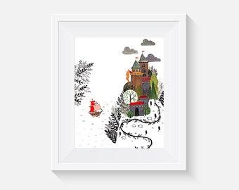 Giclee Print, Castle Art Print