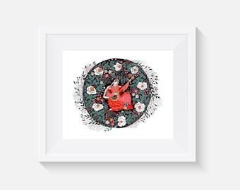 Giclee Print, Mandolin Song Art Print