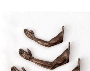 Arm Hooks Package in Bronze - 2 large (#342), 4 medium (#341), 6 small (#340)