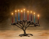 Tree of Life Menorah 9 Candle for Hanukkah - Item #824, Holiday or Decor