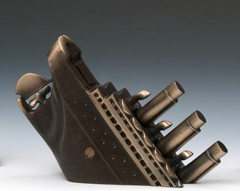Titanic Bank, Cast Bronze for Your Desk or Table