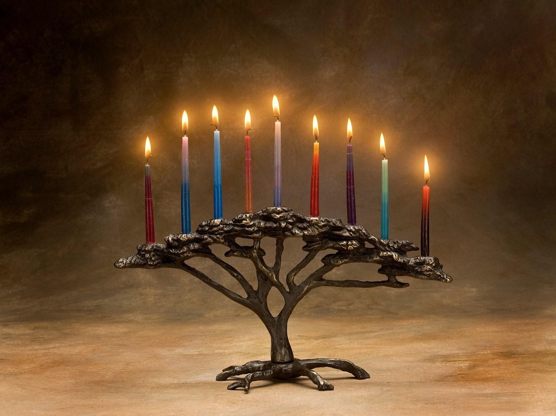 Tree Of Life Menorah 9 Candle For Hanukkah Holiday Or Decor Etsy