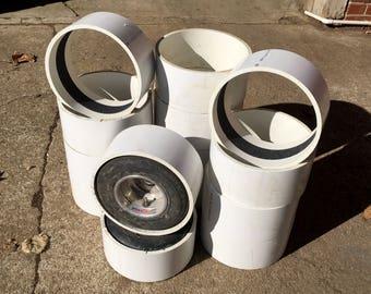 "Pair of 2 PVC Sleeves for Drift Trike Wheels 10"" & 11"" Diameter"