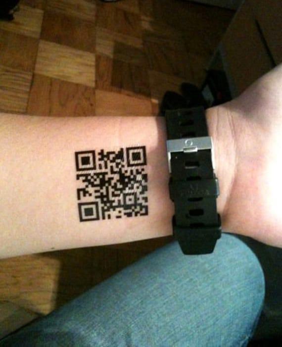 Custom Kod Qr Tatuaże Tymczasowy