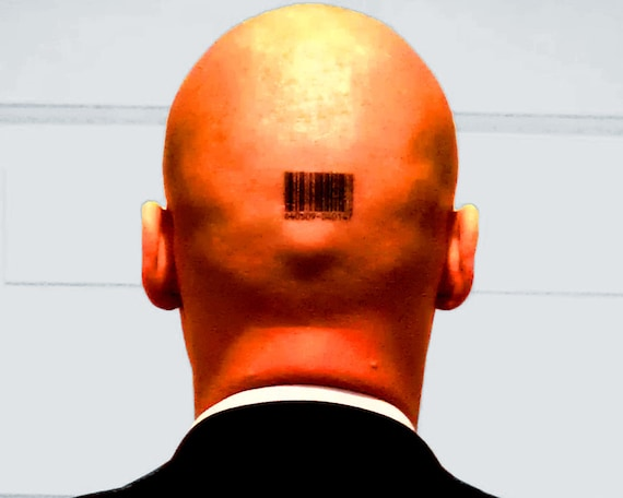 Barcode Hitman Tattoos 6406509 040147 Etsy