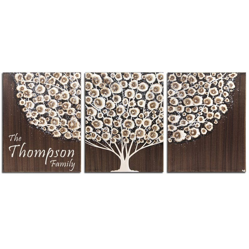 Personalized Wall Art with Family Name Custom Painting of image 0