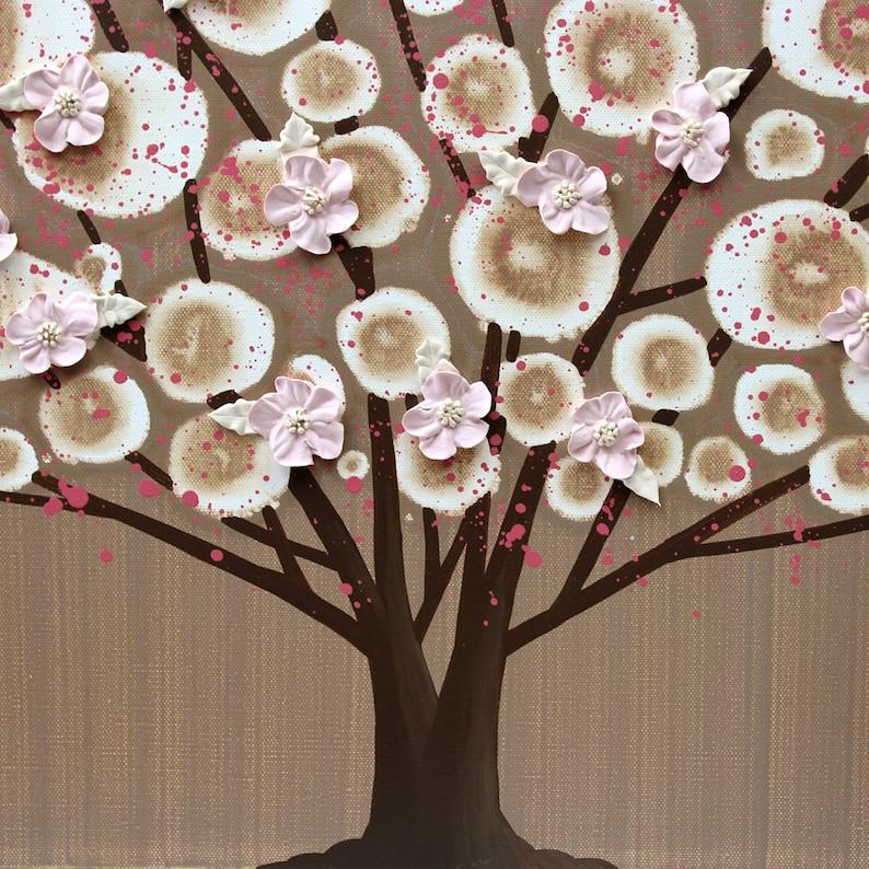 Original Acrylic Painting Textured Tree Art 50X20 Large Wall Art on Split Canvas
