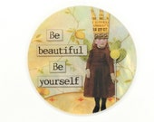 Mother of Pearl-Button or Cabochon, Inspirational Sayings- Altered Art-PR-1837