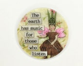Mother of Pearl-Button or Cabochon, Inspirational Sayings- Altered Art-PR-1827