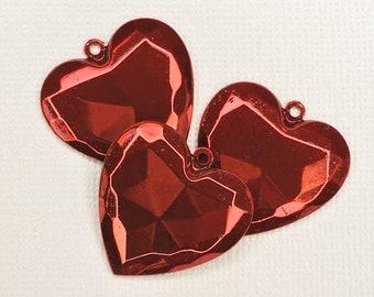 25mm, Metal Puffed Heart Charm-C-1705