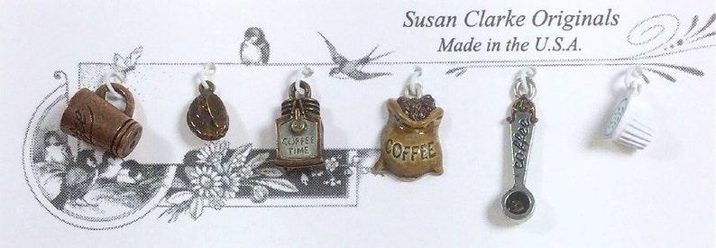 Set #68 Hand Painted Coffee Time Charm Set