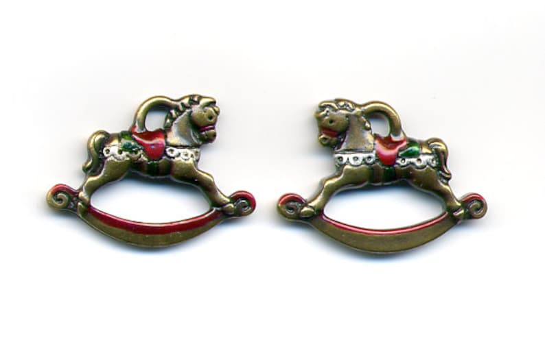Crafters Jewelry Item #1557 for Quilting Needlecraft Rocking Horse Charm Scrapbook Hand Painted