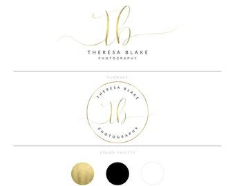 Gold Logo Photography Logo Branding Package Realtor Logo Watermark Real Estate Logo Lash Logo Microblading Logo Doula Logo Design MUA Logo