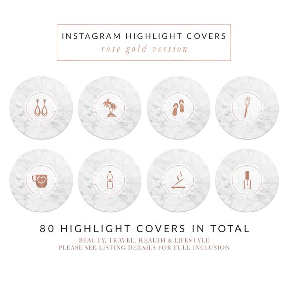 Palm Leaves Instagram Icons Rose Gold Icons Lifestyle Insta Icons Set Minimal Style Text Icons Rose Instagram Highlight Icons