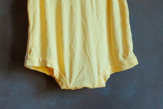 Size 3-6mo • Baby's Butter Yellow Summer Onesie - image 3