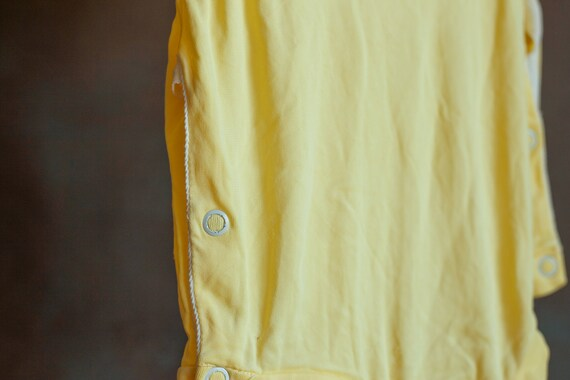 Size 3-6mo • Baby's Butter Yellow Summer Onesie - image 6