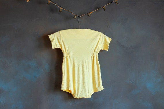 Size 3-6mo • Baby's Butter Yellow Summer Onesie - image 2