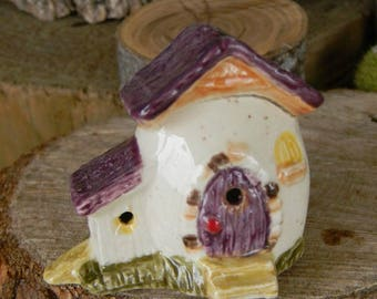 Fairy garden  Egg house Home  Gnome Chalet  ..  Tiny Egg Home for the Fairies or terrarium Easter