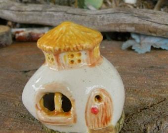 Fairy  Egg house Home  Gnome Chalet  ..  Tiny Egg Home for the Fairies or terrarium