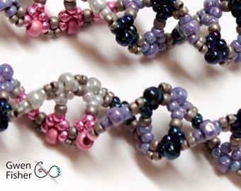 DNA Flu Virus Beaded Earrings in Pink, Silver, Blue, Purle