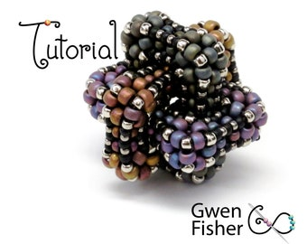 TUTORIAL Borromean Link with Beaded Cubic Right Angle Weave CRAW