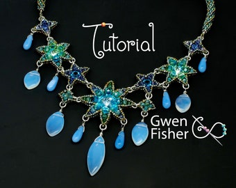 TUTORIAL Beaded Starburst Galaxy with Right Angle Weave and Crystals