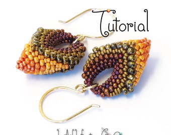TUTORIAL Victory Pod Earrings, Beaded with Cellini Peyote Stitch
