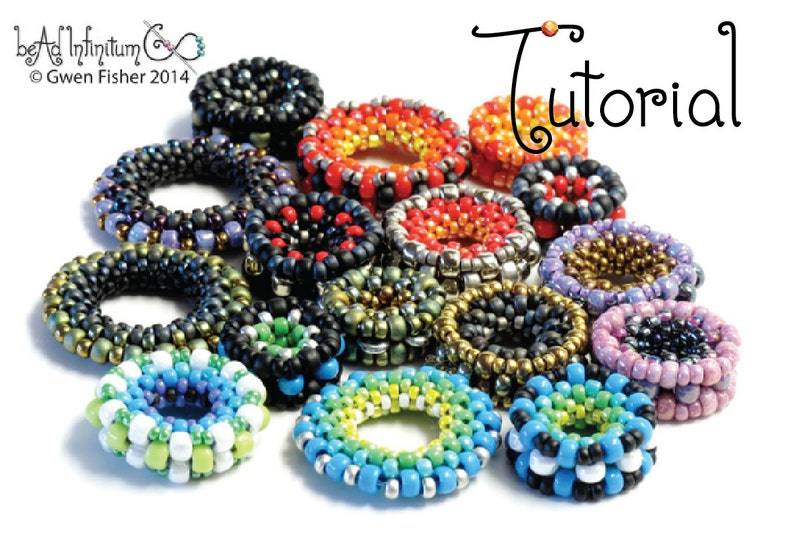 72f60bdeea9f8 TUTORIAL Nuts and Washers: 4 Easy Beaded Beads Made with Peyote Stitch