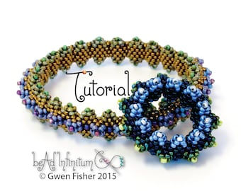 TUTORIAL Horned Bangle Bracelet Beaded with Peyote Stitch Inspired by Contemporary Geometric Beadwork